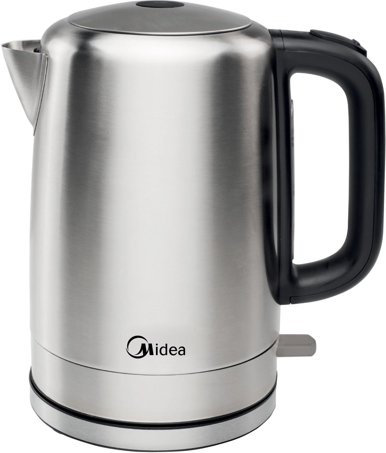 Midea MK-M317C2A-SS электрический чайникMK-M317C2A-SSУдобный чайник вместительностью 1,7 литра. Мощность составляет 2200 Вт. Корпус исполнен из нержавеющей стали. Индикатор включения. Удобный сматываемый шнур.