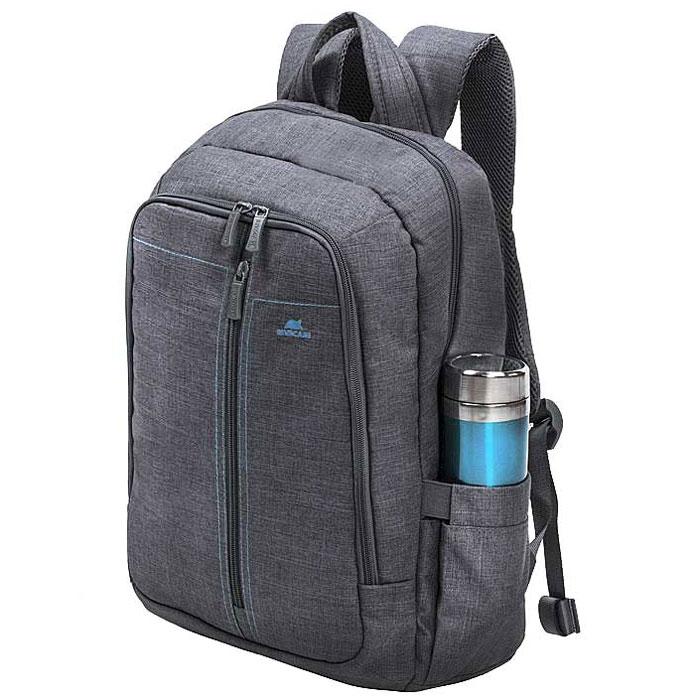Riva 7560 рюкзак для ноутбука 15,6, GreyRivaCase 7560 greyСтильный городской рюкзак для ноутбука Riva 7560 изготовлен из высококачественной водоотталкивающей ткани. Легкая конструкция с утолщенными стенками создана для защиты ноутбука от случайных ударов и царапин, а также от пыли и влаги. Основное отделение с вертикальной загрузкой имеет мягкие стенки и ремень для надежной фиксации ноутбука до 15.6.Рюкзак оборудован также внутренним отделением для планшета до 10.1. Внешний передний карман на молнии для хранения аксессуаров также имеет панель-органайзер для визитных карт, флэш-накопителей, смартфона, а два боковых кармана служат для размещения емкостей с водой. Двойная застежка молния обеспечивает удобный доступ к устройству. Мягкая ручка для переноски и наплечные ремни со смягчающими подкладками помогут чувствовать себя комфортно в самом долгом путешествии. Специальная система крепления ремешков на липучке закрепляет их и создает дополнительное удобство.