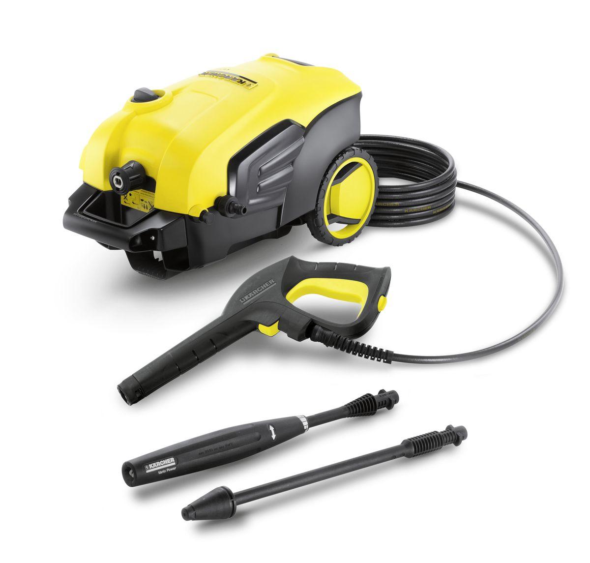 Мойка высокого давления Karcher K 5 Compact, цвет: желтый, черный1.630-720.0Мойка высокого давления Karcher K 5 Compact подходит для эффективной очистки умеренно загрязненных автомобилей, велосипедов и фасадов домов. Она оснащена мощным двигателем водяного охлаждения, а в комплект поставки входят пистолет с разъемом Quick Connect, 8-метровый шланг высокого давления, струйная трубка Vario Power и грязевая фреза. Водяной фильтр надежно защищает насос двигателя от повреждения. Шланг высокого давления быстро и легко присоединяется к мойке и отсоединяется от нее, что экономит время и силы. Большие колеса и эргономичная ручка, устанавливаемая на оптимальной высоте, облегчают перемещение. Мойка высокого давления оснащена встроенной системой всасывания чистящего средства. Практичная система забора воды позволяет снабжать мойку водой из альтернативных источников, например из бочки или цистерны.Удобные и надежные аппараты высокого давления серии Сompact имеют две ручки для транспортировки, чтобы можно было брать минимойку повсюду. Даже в багажнике автомобиля она не будет занимать много места. Современный двигатель водяного охлаждения впечатляет высокой мощностью и длительным сроком службы. Шланг высокого давления не будет мешаться под ногами, а за счет системы быстрого соединения, время на сборку минимойки существенно сократится.Производительность: 500 л/часДавление: 20 - 145 бар