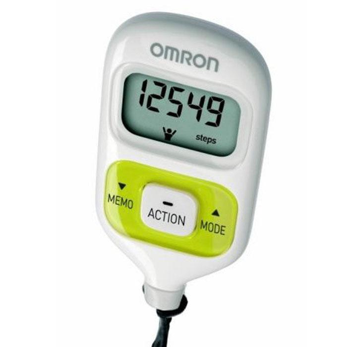 Omron HJ-203 шагомер, GreenУТ000000323Шагомер OMRON Walking Style III HJ-203 - cтильный, удобный, функциональный шагомер с двумя датчиками, что позволяет носить прибор в сумке, кармане, повесить на шею или ремень и получать более точные результаты. Функции расчета числа шагов, пройденного расстояния, потраченных калорий, сожженного за день жира помогут отследить Вам изменения состояния своего организма, понять сколько Вам не хватило до суточной нормы (10000 шагов). Шагомер OMRON Walking Style III HJ-203 - настраивается индивидуально под Вас: Вы вводите данные о своем весе и длине шага, которые хранятся в памяти прибора. Шагомер OMRON Walking Style III запоминает показания в течении 7 дней. Таким образом Вы можете оценить изменения в вашем организме, произошедшие за неделю.