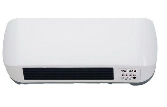 Neoclima LITEN 9016 тепловентилятор25315керамический обогреватель настенного типа, оснащенный PTC-элементом. Модели с PTC-элементом отличаются экономичностью, долговечностью и высокой надежностью. PTC-элемент (Positive Temperature Coefficient) изготавливается из специальной полупроводниковой керамики и, благодаря своим физическим свойствам, является саморегулирующимся (т.е. обладает способностью поддерживать заданную температру нагрева, не допуская перегревания). От стандартных тепловентиляторов данный прибор отличается исполнением (настенный монтаж), повышенной мощностью и высокой производительностью. Для регулирования настроек прибора предусмотрен пульт ДУ, а также удобная панель управления.