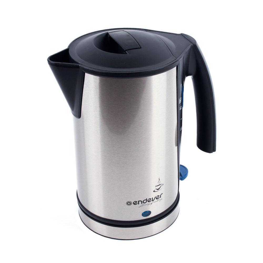 Endever KR-224 электрический чайникKR-224Электрический чайник – один из самых необходимых электроприборовна любой кухне. Чайник Endever SkyLine KR-224S – это высокоекачество изготовления, современный дизайн, стильная расцветка! Онукрасит интерьер любой кухни и создаст прекрасное настроение!Автоотключение при закипании.Автоотключение при отсутствии воды.Шкала индикации уровня воды.Световой индикатор нагревания.Эргономичная ненагревающаяся ручка.Беспроводное соединение позволяет вращать чайник на подставке на 360°.Скрытый нагревательный элемент.Корпус из высококачественной нержавеющей стали.Съёмный фильтр от накипи.