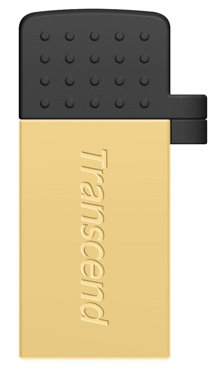 Transcend JetFlash 380 16GB, Gold USB-накопительTS16GJF380GФлэш-накопитель Transcend JetFlash 380 USB OTG разработан, чтобы преобразовать способ переноса и обмена персональными коллекциями медиафайлов. Более того, бесплатное приложение Transcend Elite позволит просматривать содержимое накопителя, а также осуществлять резервное копирование фотографий, видеозаписей, документов и других важных для пользователя файлов, которые хранятся в памяти смартфона или планшета.Два интерфейса доступа:С одной стороны находится интерфейс micro USB, который позволяет подключать флэш-накопитель к мобильным устройствам. С другой стороны, JetFlash 380 оснащен и полноразмерным USB-разъемом, который пригодится для обмена файлами с компьютерами, оборудованными обычными портами USB.Передача данных в любое время и в любом месте:JetFlash 380 позволяет пользователям перемещать или копировать файлы с/на карту памяти своего мобильного устройства с помощью постоянной USB связи, которая быстрее и надёжнее чем Wi-Fi, Bluetooth и мобильный интернет 3G/4G.Приложение Transcend Elite для USB OTG:Приложение Transcend Elite позволяет просматривать и делиться содержимым накопителя, а также осуществлять быстрое резервное копирование файлов, которые хранятся в памяти вашего устройства.