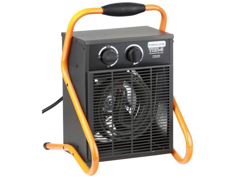 Neoclima ТПП-5 тепловая пушка5765Нагреватель Neoclima ТПП-5 - это электрический нагреватель, заметным достоинством которого является надежность. Нагреватель помещен в металлический внешний корпус, благодаря которому нагревателю не угрожают внешние повреждения. На корпус нагревателя нанесено покрытие из порошковой краски, дающее прибору улучшенную устойчивость к высоким температурам. Не будет перегреваться прибор благодаря срабатыванию встроенного термостата.