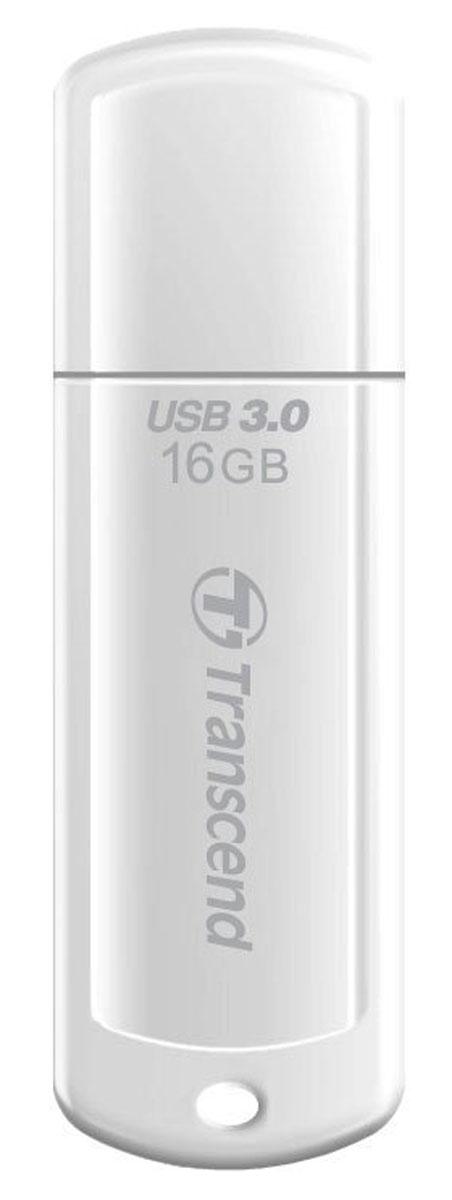 Transcend JetFlash 730 16GB, White USB-накопительTS16GJF730Те, кто всегда ценил в вещах качество, оценят элегантный и выразительный дизайн USB-накопителя Transcend JetFlash 730. Утончённый вид JetFlash 730 в белом исполнении соединил в себе стойкость и лёгкость пластиковогокорпуса, который не только красиво выглядит, но и надёжно защищает важную информацию, куда бы вы не пошли.