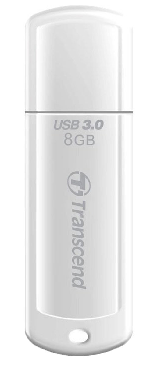 Transcend JetFlash 730 8GB, White USB-накопитель