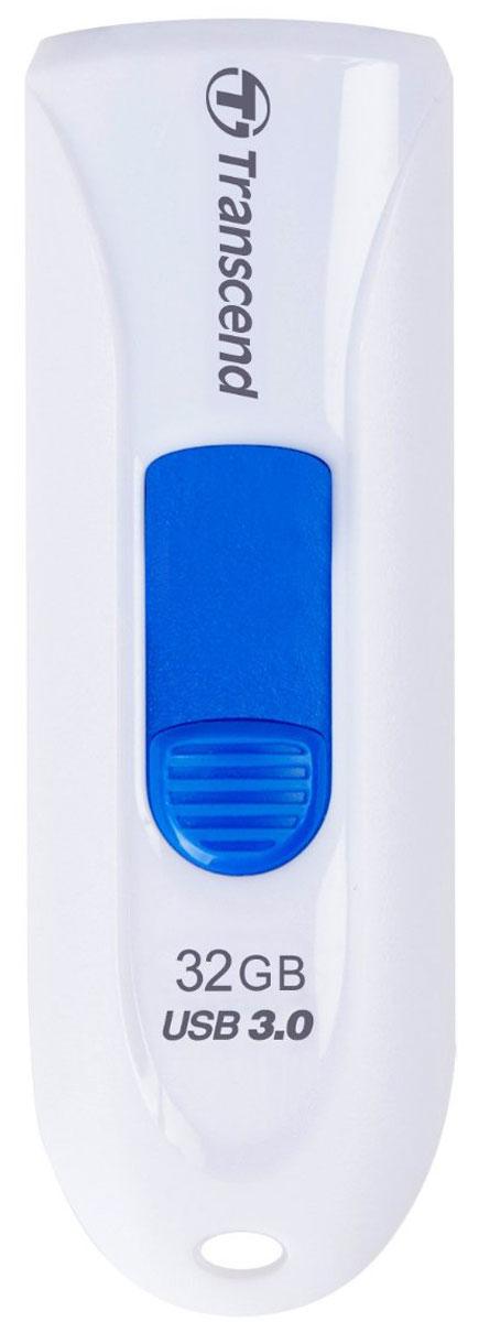 Transcend JetFlash 790 32GB, White Blue USB-накопительTS32GJF790WФлеш-накопитель Transcend JetFlash 790 оснащен выдвижным разъемом USB, что помогает сохранить данные от повреждения во время транспортировки. Просто нажмите цветной ползунок, чтобы выдвинуть разъем . JetFlash 790 поддерживает высокоскоростной интерфейс USB 3.0 и имеет большую емкость, что крайне удобно для хранения информации. Флешка с ярким и стильным дизайном привлечет внимание, а благодаря компактным размерам она будет с вами везде, куда бы вы не отправились!Пропускная способность интерфейса: 5000 Мбит/секИндикаторы: питание, активностьСовместимость: Windows 2000 / ME / XP/ Vista / 7 / 8; Mac OS 9.0, Linux Kernel 2.4.2