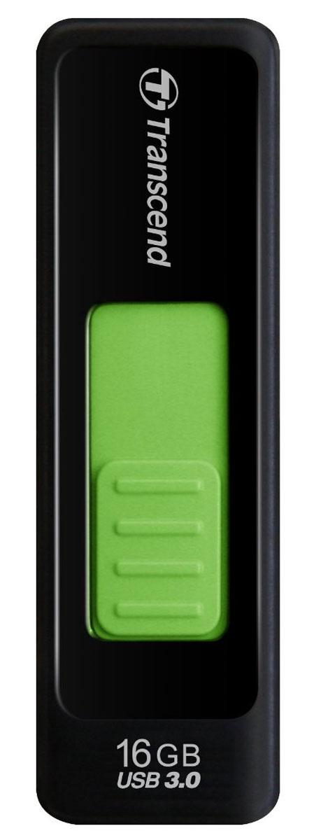 Transcend JetFlash 760 16GB, Black Green USB-накопительTS16GJF760Удобный флэш-накопитель Transcend JetFlash 760 не имеет защитного колпачка, но, при этом, оснащен выдвигаемым USB-разъемом, помогающим уберечь его от возможных повреждений во время транспортировки. Чтобы спрятать или выдвинуть разъем, необходимо лишь нажать и сместить размещенный на корпусе устройства цветной ползунок. Благодаря высокоскоростному интерфейсу SuperSpeed USB 3.0 и большой емкости, накопители JetFlash 760 максимально упростят хранение, перенос и распространение любых цифровых файлов в дороге.