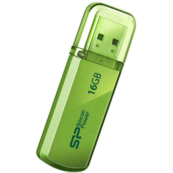 Silicon Power Helios 101 16GB, Green USB-накопительSP016GBUF2101V1NДоступный в яблочно-зеленом и лазоревом цветах новый Silicon Power Helios 101 имеет алюминиевый корпус с матовым покрытием. Silicon Power Helios 101 отражает футуристический, стильный и простой дизайн. Он тонок, легок и подходит для пользователей, следящих за модой! Helios 101 может быть прикреплен к брелоку с ключами и использоваться как аксессуар. Обладающий функцией plug&play Helios 101 - идеальный компаньон нетбука!ПО SP Widget с 7 основными функциями для защиты данных:Синхронизация и Резервное копирование Мои ДокументыСинхронизация и Резервное копирование других папокСинхронизация и Резервное копирование Outlook/Outlook expressКопирование и шифрование данных на USB носительЗагрузка 60-дневной пробной версии Symantec Norton Internet security бесплатноСинхронизация и Резервное копирование папки ИзбранноеБлокирование компьютера паролем, по времени или USB накопителем
