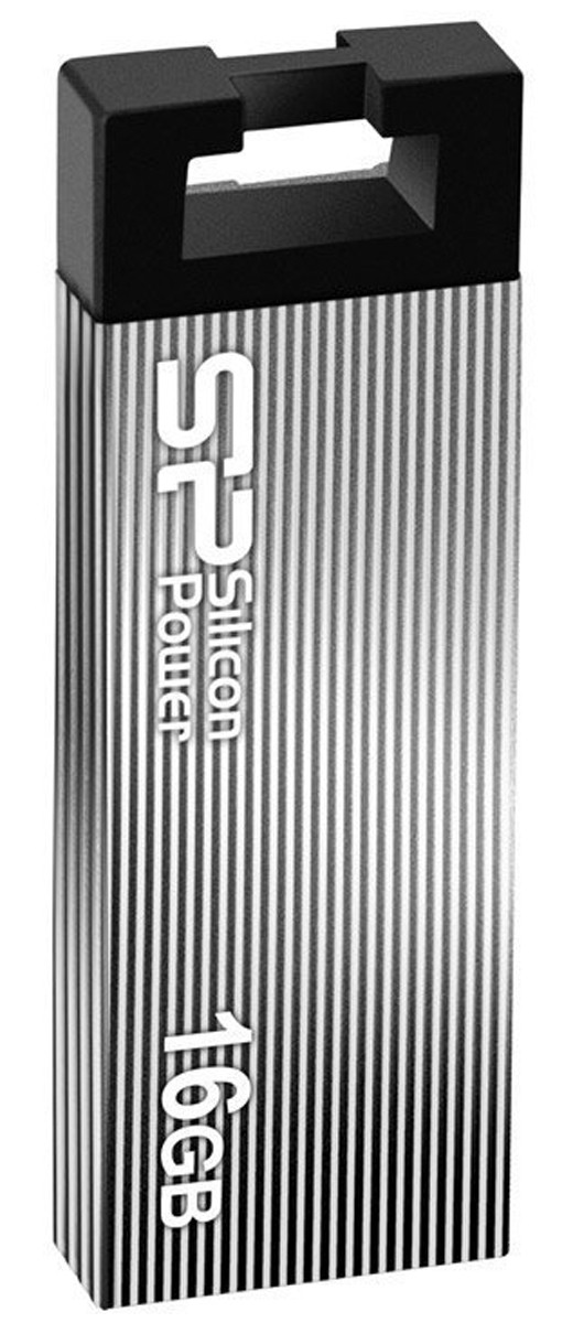 Silicon Power Touch 835 16GB, Grey USB-накопительSP016GBUF2835V1TSilicon Power Touch 835 отличается стильным металлическим корпусом и весом всего 4,5 грамм. Для создания высококачественного покрытия и защиты корпуса от царапин SP использовала технологию пескоструйной обработки металла. Использование технологии COB (Chip On Board) обеспечивает ударопрочность, пыле- и водонепроницаемость накопителю.