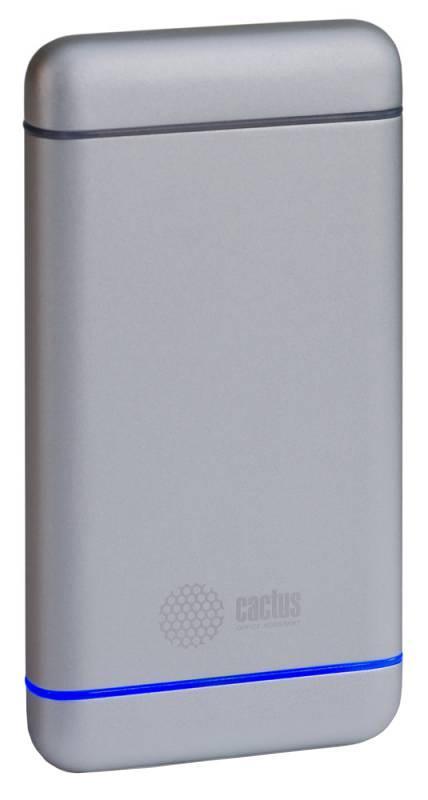 Cactus CS-PBMS029-10000AL, Silver внешний аккумулятор (10000 мАч)CS-PBMS029-10000ALАккумуляторная батарея Cactus CS-PBMS029-10000AL 10000mAh серебристый