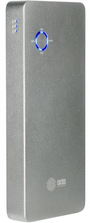 Cactus CS-PBPT18-18000AL, Silver внешний аккумулятор (18000 мАч)CS-PBPT18-18000ALCactus CS-PBPT18-18000AL - это внешний аккумулятор емкостью 18000 мА·ч, являющийся легким, стильным и компактным источником энергии, который вы можете носить в сумке или кармане! Он способен осуществлять зарядку смартфонов, плееров, цифровых камер и прочих мобильных устройств.