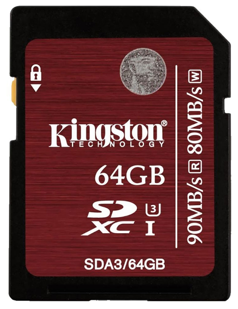 Kingston SDXC Class 10 UHS-I U3 64GB карта памяти