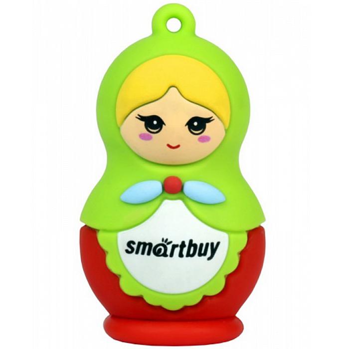 SmartBuy Wild Series Matrioshka 8GB USB-накопительSB8GBDollSmartBuy Wild Series Matrioshka - сувенирный флеш-накопитель в ярком дизайне в виде матрешки, который несомненно порадует вас! Он послужит как модным аксессуаром, так и полезным помощником на работе и дома. Удобная петля для подвешивания позволит прикрепить флешку к брелоку для ключей, чтобы она не потерялась.Совместимость: Windows 7 / 8 / XP / 2000 / Vista, Mac OS 8.6 и Linux 2.4.0 (или выше) / Windows 10