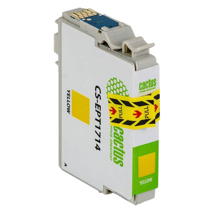 Cactus CS-EPT1714, Yellow струйный картридж для Epson Expression Home XP-33/103/203/207/303/306/403/406CS-EPT1714Картридж Cactus CS-EPT0806 для струйных принтеров Epson.Расходные материалы Cactus для печати максимизируют характеристики принтера. Обеспечивают повышенную четкость изображения и плавность переходов оттенков и полутонов, позволяют отображать мельчайшие детали изображения. Обеспечивают надежное качество печати.