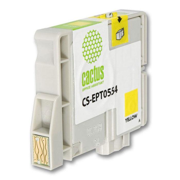 Cactus CS-EPT0554, Yellow струйный картридж для МФУ Epson Stylus Photo RX420/RX425CS-EPT0554Картридж Cactus CS-EPT0554 для струйных МФУ Epson.Расходные материалы Cactus для печати максимизируют характеристики принтера. Обеспечивают повышенную четкость изображения и плавность переходов оттенков и полутонов, позволяют отображать мельчайшие детали изображения. Обеспечивают надежное качество печати.