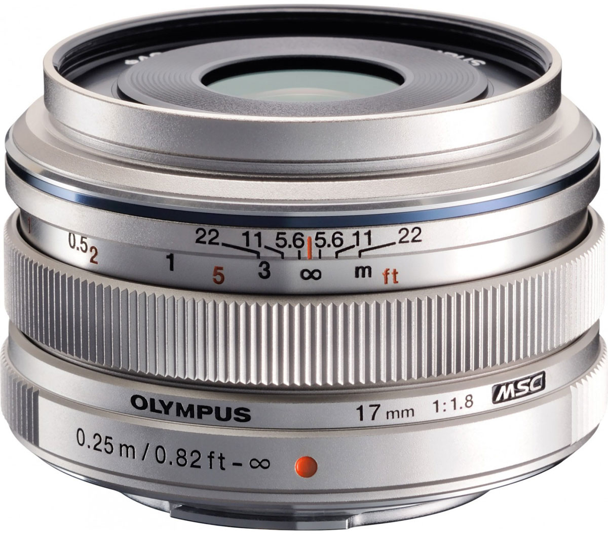 Olympus M.Zuiko Digital 17mm f/1.8, Silver объектив