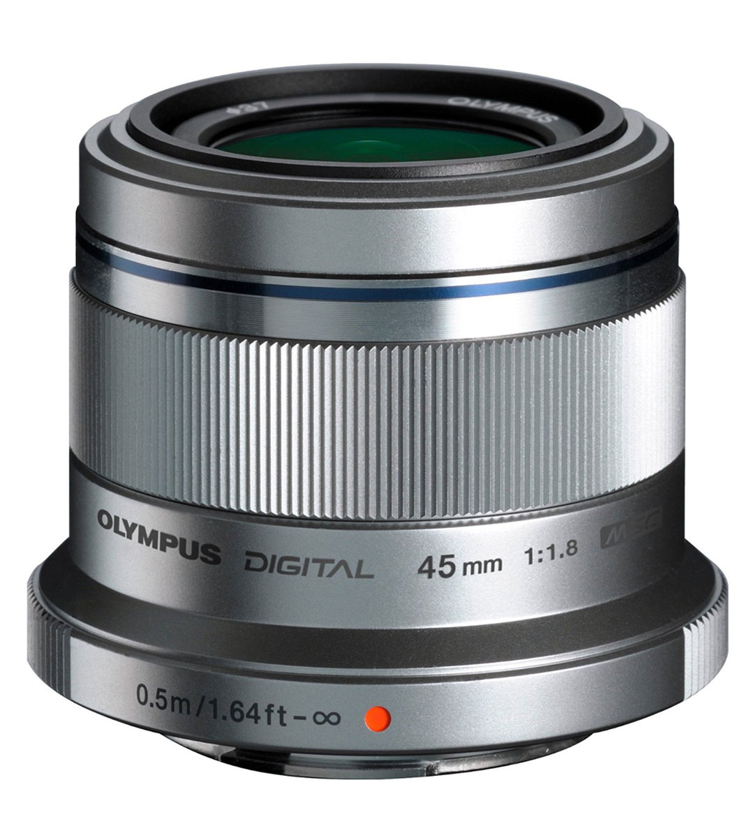 Olympus M.Zuiko Digital 45mm f/1.8, Silver объектив