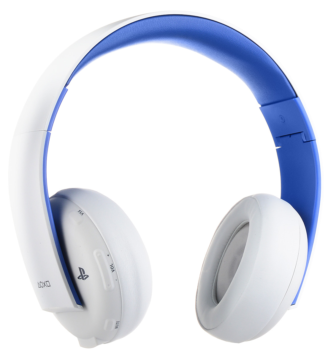 Sony PlayStation Беспроводная стереогарнитура 2.0 для PS4 / PS3 / PS Vita, WhiteCECHYA-0083Наслаждайтесь насыщенным динамичным звуком дома, используя беспроводную гарнитуру с PlayStation 3 или PlayStation 4, или в дороге, подключив гарнитуру к PlayStation Vita или другому мобильному устройству. Общайтесь с друзьями и отдавайте приказы своей команде, используя высококачественный встроенный микрофон с системой шумоподавления.Обнаруживайте врагов по звуку и наслаждайтесь мощью взрывов с великолепной системой виртуального объемного звучания 7.1 (только на PS3 и PS4). Используйте предустановленные режимы прослушивания для игр, кино и музыки, а также дополнительные режимы, доступные во вспомогательном приложении для гарнитуры для PS3 и PS4 (приложение можно загрузить из PlayStation Store).Использовать гарнитуру в дороге очень удобно - благодаря складной конструкции и восьми часам работы от аккумулятора. Удобный интерфейс позволяет видеть все важные параметры - например, уровень громкости микрофона, - на экране телевизора. Внимание! Требуется системное программное обеспечение для PS4 версии 1.60 или выше / системное ПО для PS3 версии 4.20 или выше.
