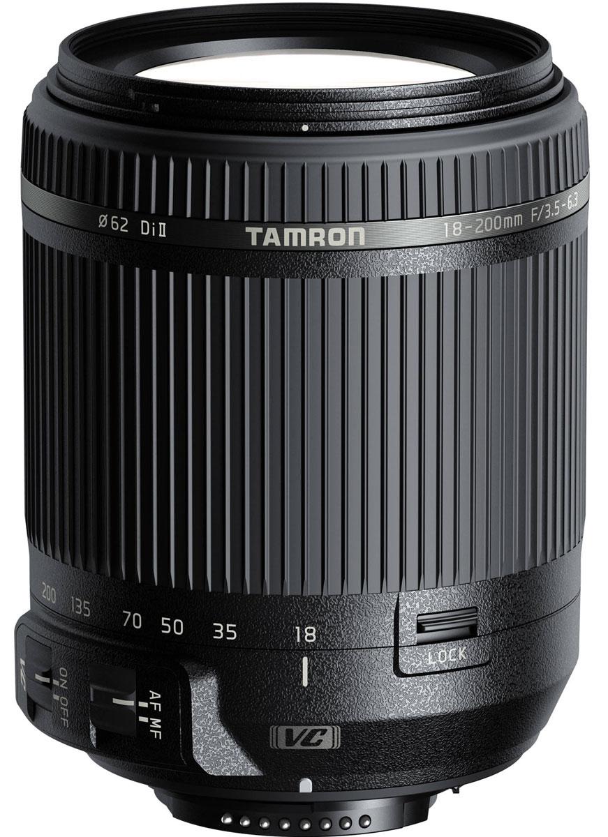 Tamron 18-200mm F/3.5-6.3 DI II VC, Black объектив для NikonB018NОбъектив Tamron 18-200 мм VC имеет современную оптическую и механическую конструкцию, что позволило обеспечить компактность и быстродействие. Благодаря системе стабилизации изображения объектив 18-200 мм VC гарантирует превосходное качество изображения и является самым легким зум-объективом в своем классе. При создании этого универсального объектива all-in-one, открывающего новые возможности фотосъемки для пользователей цифровых зеркальных камер, компания Tamron опиралась на накопленный опыт и экспертные знания в сфере производства мощных зум-объективов.Диапазон зуммирования от 18 до 200 мм (эквивалент 35-мм пленки: 28-310 мм) означает, что пользователю больше не нужно менять объектив даже при переходе от широкоугольной съемки в ограниченном пространстве к телефотосъемке удаленных объектов. Этот объектив идеально подойдет для создания больших групповых снимков, семейных фотографий, портретов, пейзажей, снимков животных и школьных мероприятий и даже для крупноплановой кулинарной съемки (с расстояния менее 0,5 м).При съемке с длинной выдержкой в режиме телефото в условиях низкого освещения дрожание камеры ощутимо сказывается на качестве снимков. Но благодаря системе VC компании Tamron даже начинающие фотографы смогут создавать прекрасные снимки с большого расстояния, в ночное время и в помещениях. Поскольку в этой модели используется модуль привода автофокуса новой конструкции, которая оптимально интегрирует электромотор и зубчатую передачу, объектив фокусируется намного быстрее и тише, чем модели с обычными электромоторами постоянного тока.
