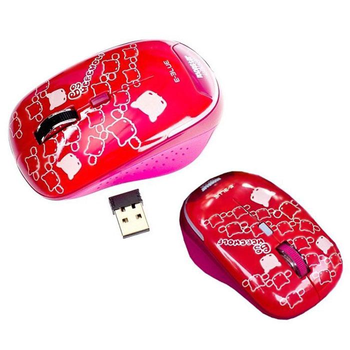 E-Blue EMS103 Monster Babe, Red мышь беспроводнаяEMS103REБеспроводная компьютерная мышь E-Blue EMS103 Monster Babe с ярким, необычным дизайном безусловно станет вашим незаменимым помощником. Компактные размеры позволяют использовать мышь при работе с ноутбуком. Небольшой приемник можно оставлять в USB-разъеме компьютера даже при его транспортировке. Клавиша переключения разрешения сенсора служит для регулировки необходимой точности управления курсором.