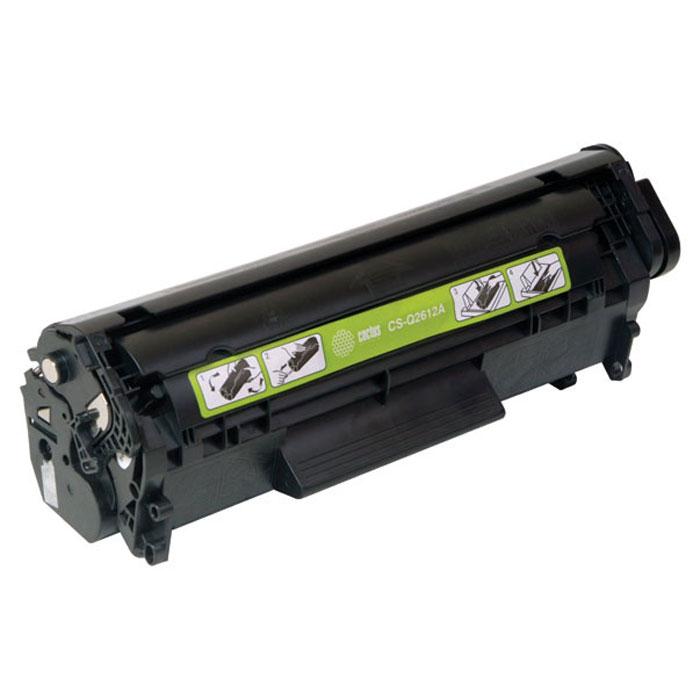 Cactus CS-Q2612AS, Black тонер-картридж для HP LJ1010/1012/1015/1018/1020/1020Plus/1022/3015/3020CS-Q2612ASКартридж Cactus CS-Q2612AS ( аналог Q2612A )для лазерных принтеров HP.Расходные материалы Cactus для лазерной печати максимизируют характеристики принтера. Обеспечивают повышенную чёткость чёрного текста и плавность переходов оттенков серого цвета и полутонов, позволяют отображать мельчайшие детали изображения. Обеспечивают надежное качество печати.