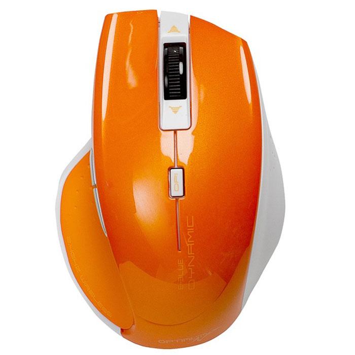 E-Blue EMS106 Dynamic, Orange мышь беспроводнаяEMS106YEБеспроводная оптическая мышь E-Blue EMS106 Dynamic обеспечивает необыкновенно быстрое перемещение курсора. Мышь комфортно лежит в руке и отлично подходит для любого пользователя. Ее можно использовать практически на любой поверхности, а сенсор с разрешением 400/800/1200 dpi обеспечивает плавную и точную регулировку. E-Blue EMS106 Dynamic идеально подойдет как обычным пользователям, так и профессионалам и легко поместится в сумку для ноутбука благодаря компактным размерам.
