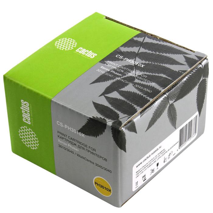 Cactus CS-PH3010X, Black тонер-картридж для Xerox Phaser 3010 WorkCentre 3045(106R02183)