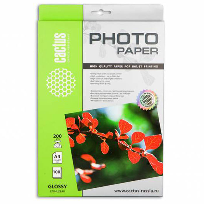 Cactus CS-GA4200100 глянцевая фотобумага