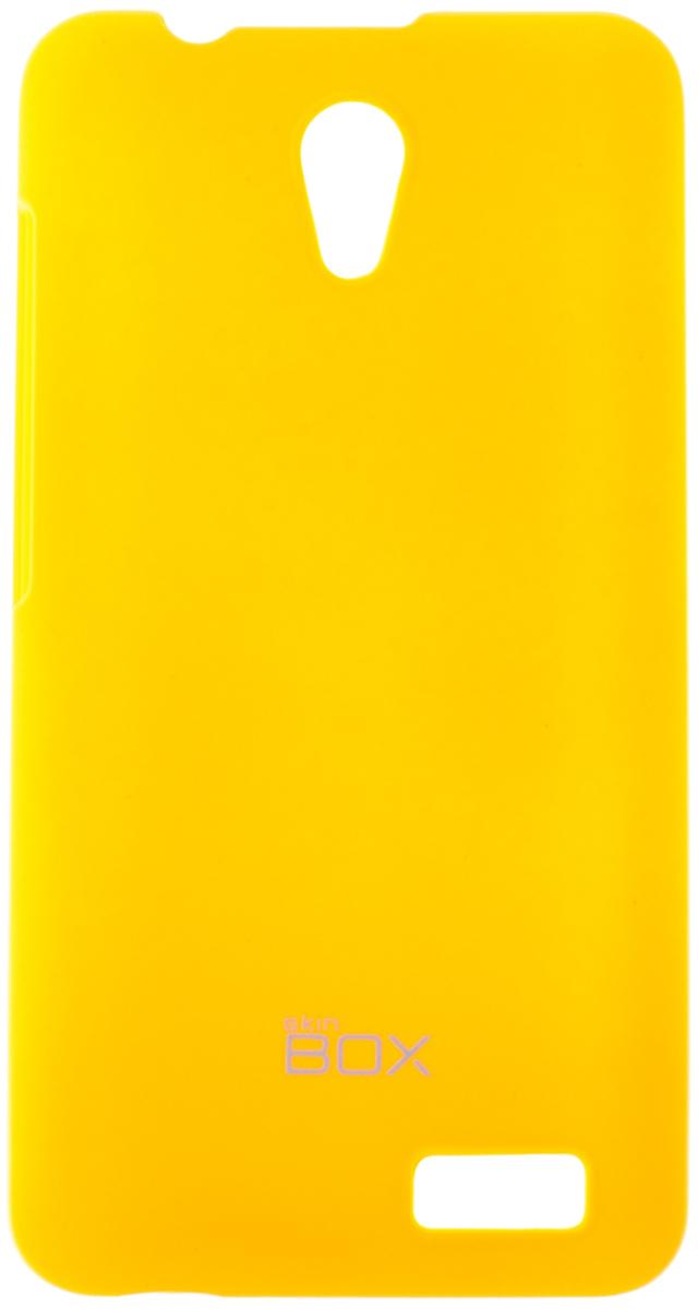 Skinbox 4People чехол для Lenovo A319, YellowT-S-LA319-002Чехол - накладка Skinbox 4People для Lenovo A319 бережно и надежно защитит ваш смартфон от пыли, грязи, царапин и других повреждений. Чехол оставляет свободным доступ ко всем разъемам и кнопкам устройства. В комплект также входит защитная пленка на экран.