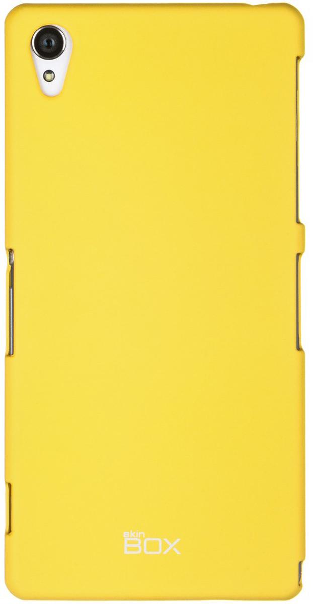 Skinbox 4People чехол для Sony Xperia Z3, YellowT-S-SXZ3-002Чехол - накладка Skinbox 4People для Sony Xperia Z3 бережно и надежно защитит ваш смартфон от пыли, грязи, царапин и других повреждений. Чехол оставляет свободным доступ ко всем разъемам и кнопкам устройства. В комплект также входит защитная пленка на экран.