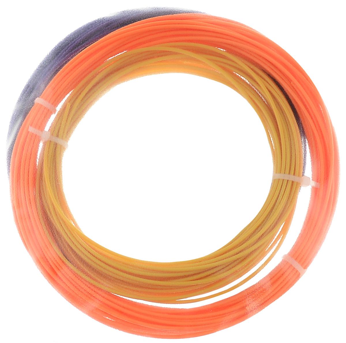 ESUN 3D Filament, Orange Gold Purple комплект ABS-пластика, 10 мУТ000006539ESUN 3D Filament - комплект ABS-пластика для 3D печати, состоящий из трех цветов. Толщина пластика составляет 1,75 мм. Длина каждого мотка - 10 метров.