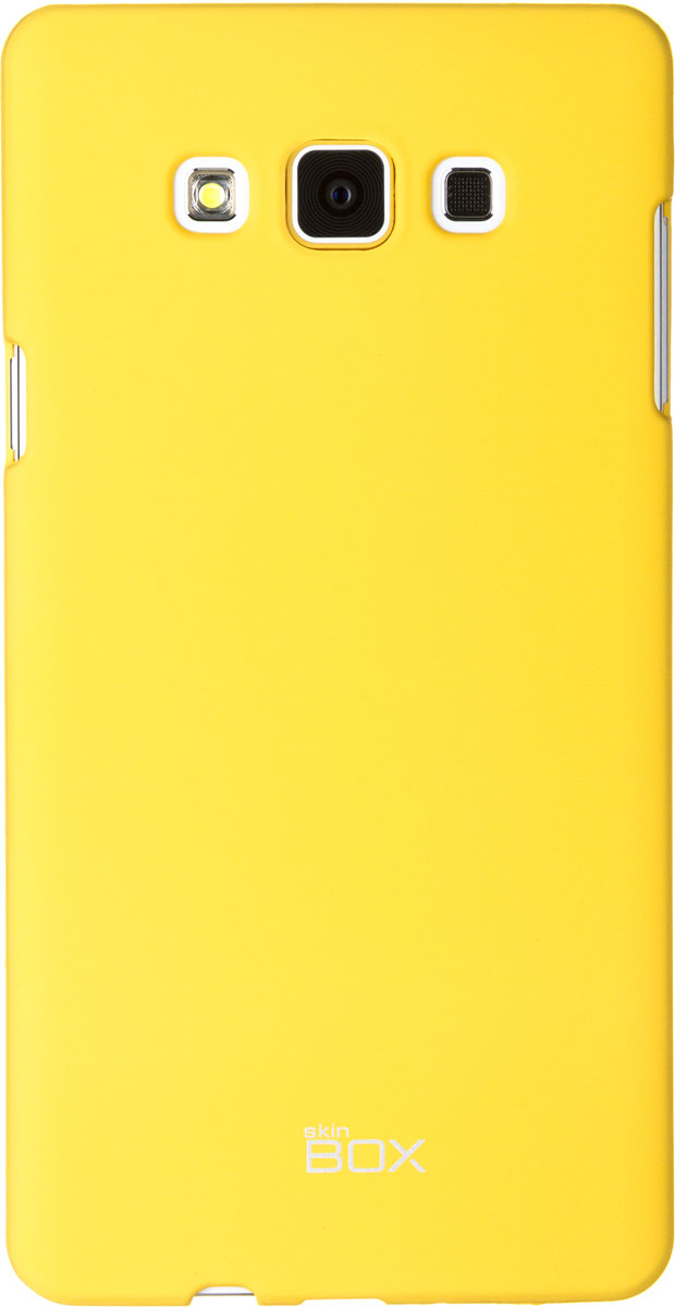 Skinbox 4People чехол для Samsung A700 Galaxy A7, YellowT-S-SGA700-002Чехол - накладка Skinbox 4People для Samsung Galaxy A7 бережно и надежно защитит ваш смартфон от пыли, грязи, царапин и других повреждений. Чехол оставляет свободным доступ ко всем разъемам и кнопкам устройства. В комплект также входит защитная пленка на экран.