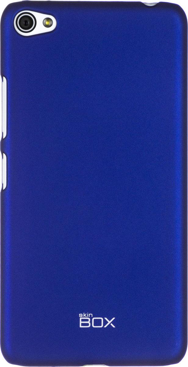 Skinbox 4People чехол для Lenovo S60, BlueT-S-LS60-002Чехол - накладка Skinbox 4People для Lenovo S60 бережно и надежно защитит ваш смартфон от пыли, грязи, царапин и других повреждений. Чехол оставляет свободным доступ ко всем разъемам и кнопкам устройства. В комплект также входит защитная пленка на экран.