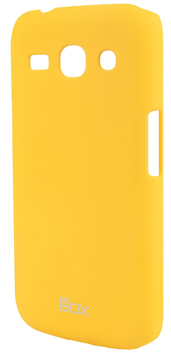 Skinbox 4People чехол для Samsung G350 Galaxy Star Advance, YellowT-S-SG350-002Чехол - накладка Skinbox 4People для Samsung Galaxy Star Advance бережно и надежно защитит ваш смартфон от пыли, грязи, царапин и других повреждений. Чехол оставляет свободным доступ ко всем разъемам и кнопкам устройства. В комплект также входит защитная пленка на экран.
