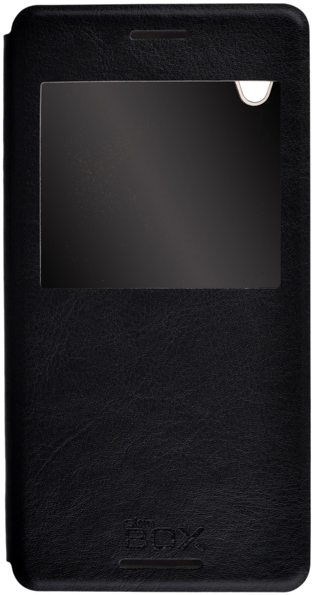 Skinbox Lux AW чехол для Sony Xperia M4 Aqua, Black - Чехлы
