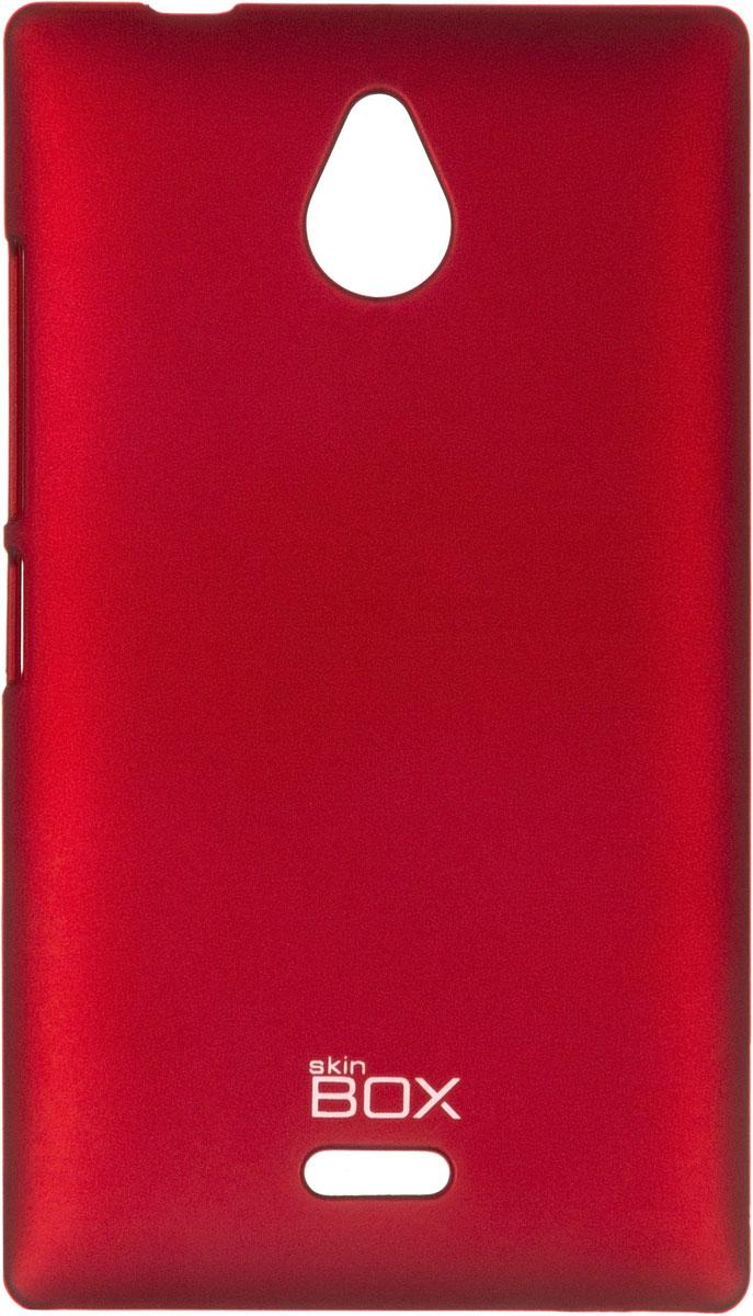 Skinbox 4People чехол для Nokia X2, RedT-S-NX2-002Накладка Skinbox 4People для Nokia X2 выполнена из высококачественного поликарбоната. Она бережно и надежно защитит ваш смартфон от пыли, грязи, царапин и других повреждений. Чехол оставляет свободным доступ ко всем разъемам и кнопкам устройства.