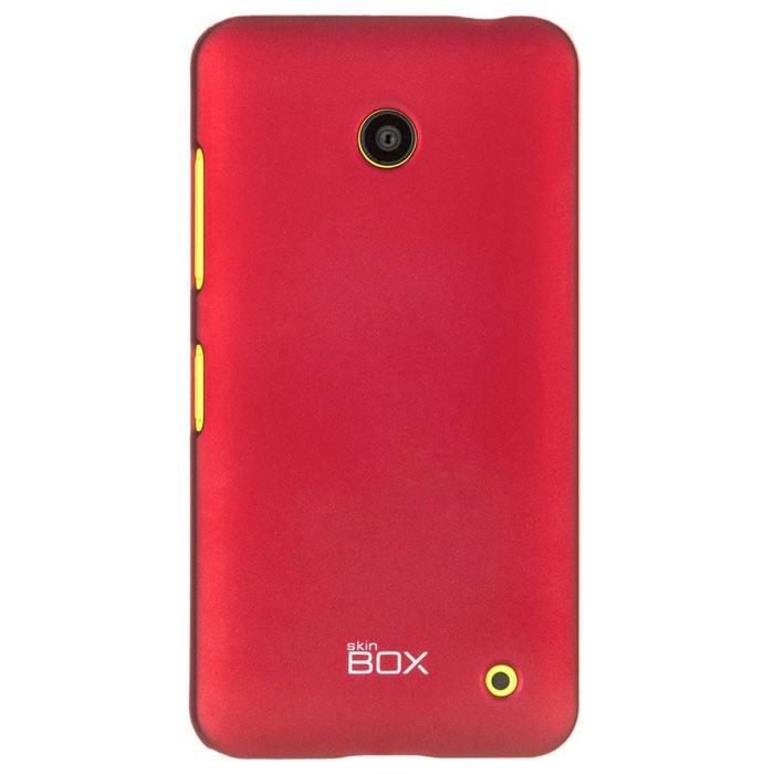 Skinbox 4People чехол для Nokia Lumia 630/635, RedT-S-NL635-002Накладка Skinbox 4People дляNokia Lumia 630/635 выполнена из высококачественного поликарбоната. Она бережно и надежно защитит ваш смартфон от пыли, грязи, царапин и других повреждений. Чехол оставляет свободным доступ ко всем разъемам и кнопкам устройства.