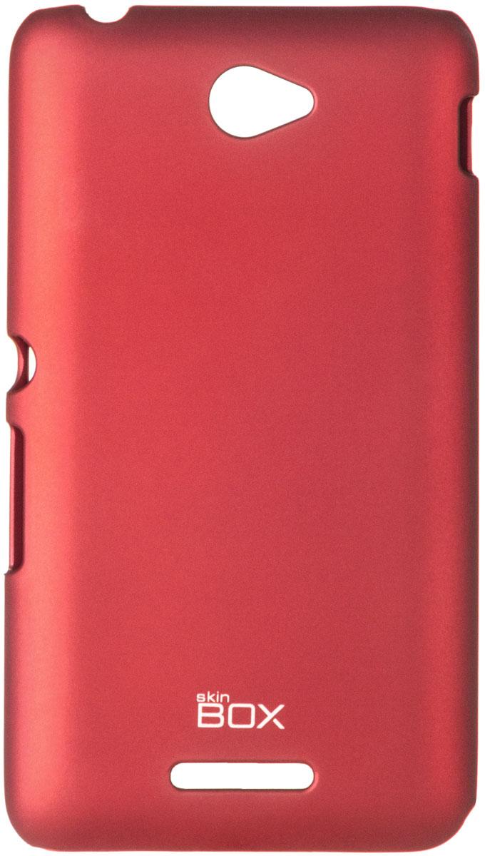 Skinbox 4People чехол для Sony Xperia E4/E4 Dual, Red аксессуар чехол накладка sony xperia e4 ss ds skinbox 4people t s sxe4 002 yellow защитная пленка