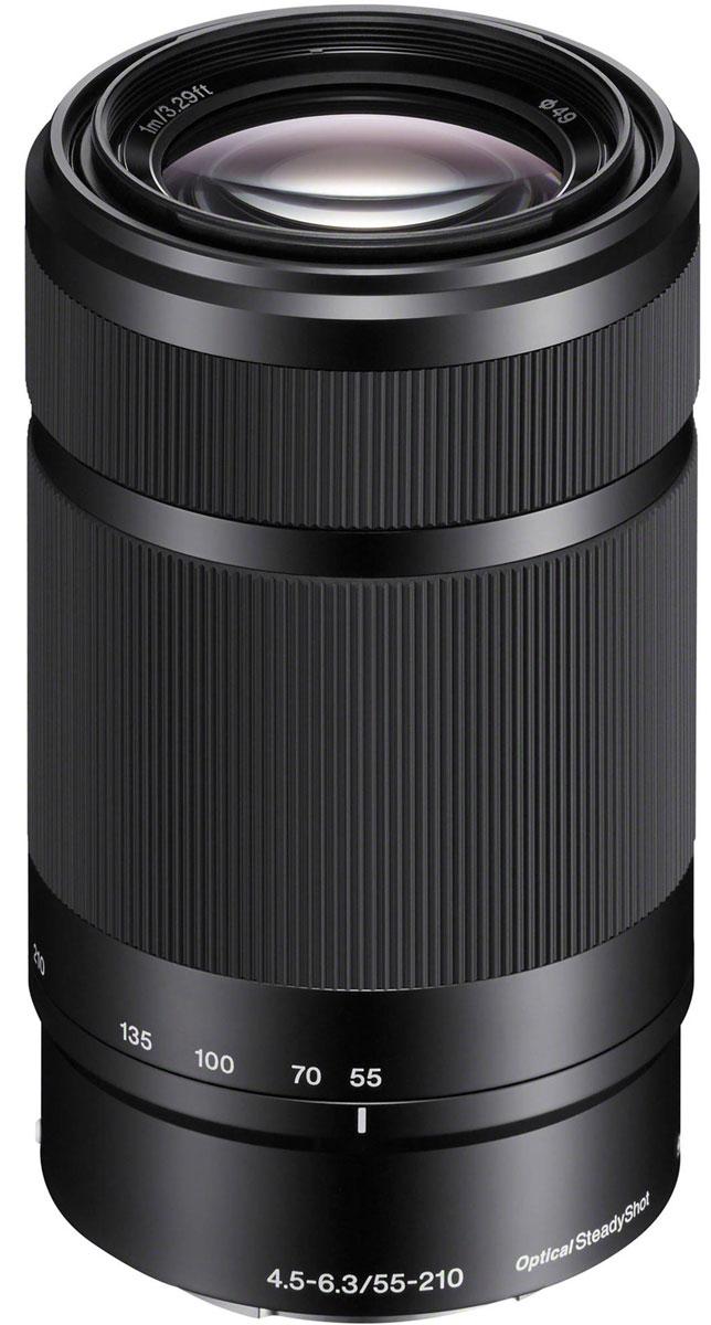 Sony 55-210 mm F/4.5-6.3, Black объектив для NexSEL55210B.AEМодель Sony 55-210 mm позволяет снимать на большом расстоянии такие объекты, как спортивные соревнования и природа. Встроенный стабилизатор изображения уменьшает размытие при съемки на большом расстоянии или при слабом освещении.Стабилизатор изображения Optical SteadyShot, встроенный в объектив, позволяет создавать плавные, несмазанные фотографии и видеозаписи при съемке с рук.Вместо стандартной диафрагмы объектива в форме многоугольника, этот объектив имеет 7-лепестковую круглую диафрагму для более естественной, скругленной дефокусировки или эффекта боке.Асферические элементы объектива сводят искажения к минимуму, а линзы из стекла со сверхнизкой дисперсией повышают контрастность, разрешение и четкость цветов.Благодаря механизму внутренней фокусировки корпус объектива не движется, что делает конструкцию более компактной, отклик автофокуса - более быстрым, а также сокращает минимальную дистанцию фокусировки.
