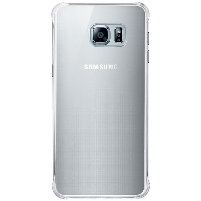 Samsung EF-QG928M Glossy Cover чехол для Galaxy S6 Edge+, Silver - Чехлы