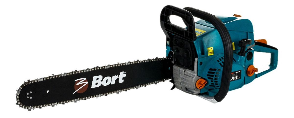 Пила цепная бензиновая Bort BBK-222098296198Цепная бензиновая пила Bort BBK-2220 - это мощный инструмент для работы с деревом. Данная модель отличается надежностью благодаря нескольким особенностям, одна из них - центробежная система очистки воздуха, которая уменьшает загрязненность воздуха и увеличивают срок службы фильтра. Другая особенность - керамический топливный фильтр. Он обеспечивает увеличенный срок эксплуатации и высокое качество фильтрации. Конструкция фильтра позволяет использовать инструмент в любом положении даже при низком уровне топлива. Одно из преимуществ этой пилы - антивибрационная система. Она снижает уровень вибрации, уменьшая негативное воздействие на пользователя. Таким образом, снижается нагрузка на руки, и можно работать без перерывов дольше. Пила может работать при низких температурах благодаря системе подачи горячего воздуха. Эта система уменьшает риск появления конденсата в карбюраторе, тем самым снижает риск обледенения воздушного фильтра.Преимущества пилы: PRIMER - облегчает запуск двигателяEASY START- система снижает на 50% прилагаемое усилие, обеспечивая комфортный и надежный запуск двигателяМатериал корпуса устойчив к низким температурамАнтивибрационная система защищает от негативного воздействияЦентробежная система очистки воздуха уменьшает загрязненность воздуха и увеличивает срок службы фильтра.Шаг цепи: 0,33.Длина шины: 508 мм.