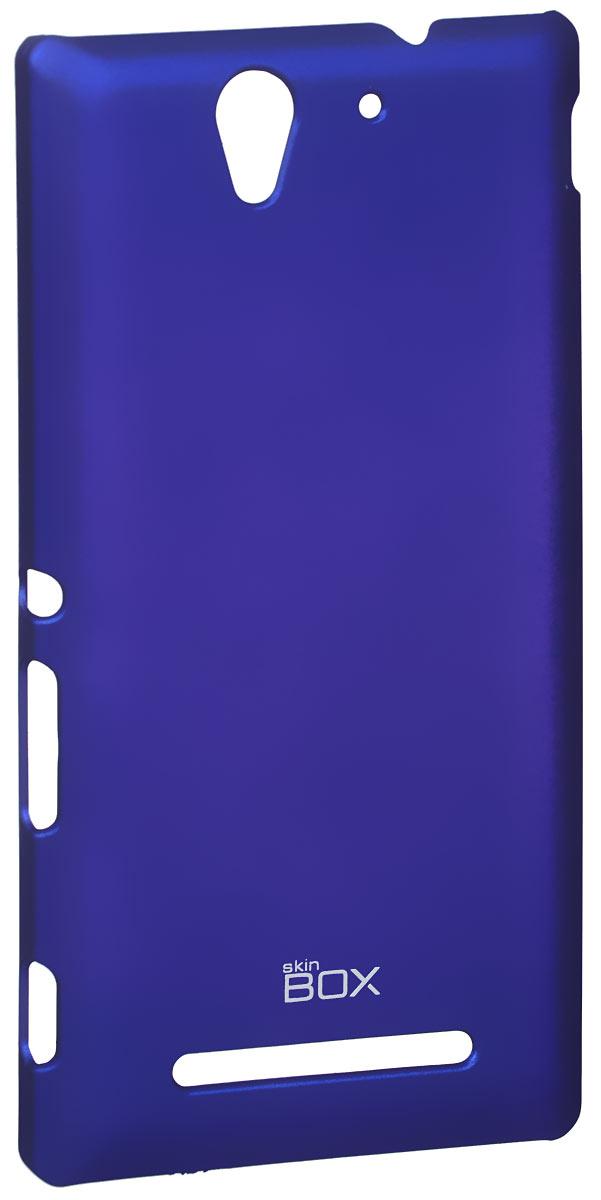 Skinbox 4People чехол для Sony Xperia C3, BlueT-S-SXС3-002Чехол - накладка Skinbox 4People для Sony Xperia C3 бережно и надежно защитит ваш смартфон от пыли, грязи, царапин и других повреждений. Чехол оставляет свободным доступ ко всем разъемам и кнопкам устройства. В комплект также входит защитная пленка на экран.