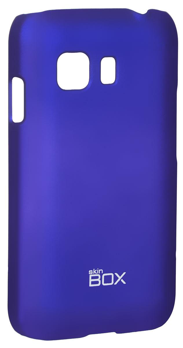 Skinbox 4People чехол для SamsungGalaxy Young 2 SM-G130H, BlueT-S-SGY2-002Чехол-накладка Skinbox 4People для SamsungGalaxy Young 2 SM-G130H бережно и надежно защитит ваш смартфон от пыли, грязи, царапин и других повреждений. Чехол оставляет свободным доступ ко всем разъемам и кнопкам устройства. В комплект также входит защитная пленка на экран.