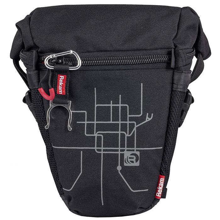 Rekam Pyramid RBX-53, Black сумка для фотокамеры1401101191Стильная, эргономичная сумка Rekam Pyramid RBX-53 предназначена для зеркальной фотокамеры средних размеров. Прочный материал, надежные молнии и крепления, обеспечивают максимальную защиту фототехники. Удобно расположенные отсеки и карманы позволяют разместить пару аксессуаров. Отсек для личных вещей, сделанный в форме мягкого раструба, при необходимости удобно складывается, и не занимает лишнего места.