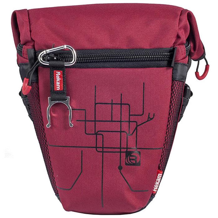Rekam Pyramid RBX-53, Red сумка для фотокамеры1401101192Стильная, эргономичная сумка Rekam Pyramid RBX-53 предназначена для зеркальной фотокамеры средних размеров. Прочный материал, надежные молнии и крепления, обеспечивают максимальную защиту фототехники. Удобно расположенные отсеки и карманы позволяют разместить пару аксессуаров. Отсек для личных вещей, сделанный в форме мягкого раструба, при необходимости удобно складывается, и не занимает лишнего места.