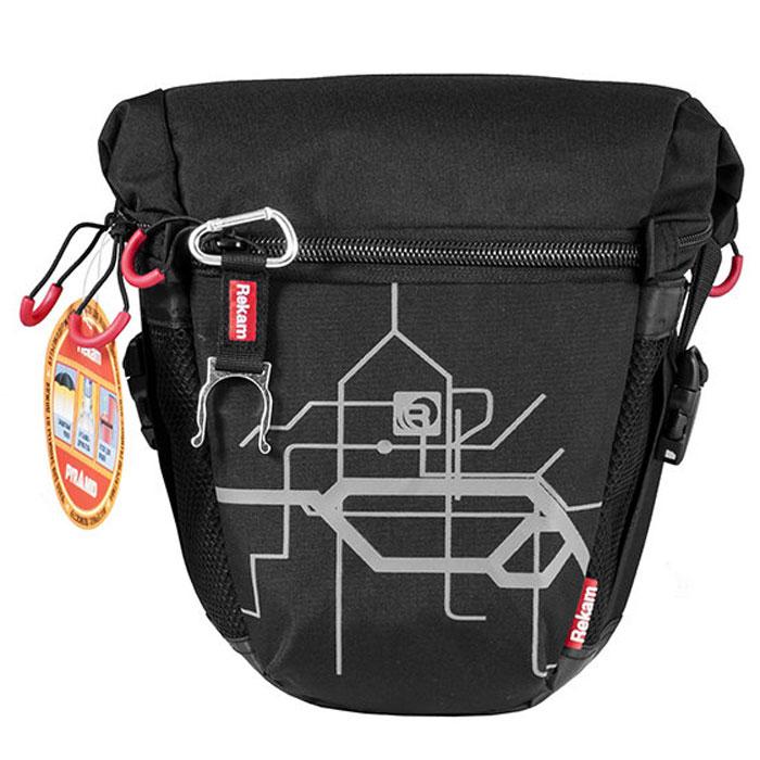 Rekam Pyramid RBX-55, Black сумка для фотокамеры1401101211Стильная, эргономичная сумка Rekam Pyramid RBX-55 предназначена для зеркальной фотокамеры. Прочный материал, надежные молнии и крепления, обеспечивают максимальную защиту фототехники. Дополнительные отсеки и карманы позволяют разместить выносную фотовспышку и пару аксессуаров. Отсек для личных вещей, сделанный в форме мягкого раструба, при необходимости удобно складывается, и не занимает лишнего места.