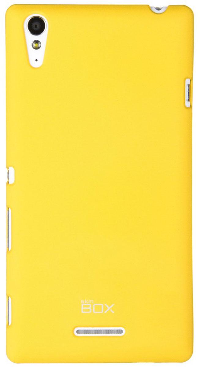 Skinbox 4People чехол для Sony Xperia T3, Yellow аксессуар чехол накладка sony xperia e4 ss ds skinbox 4people t s sxe4 002 yellow защитная пленка
