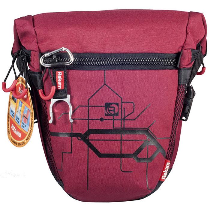 Rekam Pyramid RBX-55, Red сумка для фотокамеры1401101212Стильная, эргономичная сумка Rekam Pyramid RBX-55 предназначена для зеркальной фотокамеры. Прочный материал, надежные молнии и крепления, обеспечивают максимальную защиту фототехники. Дополнительные отсеки и карманы позволяют разместить выносную фотовспышку и пару аксессуаров. Отсек для личных вещей, сделанный в форме мягкого раструба, при необходимости удобно складывается, и не занимает лишнего места.