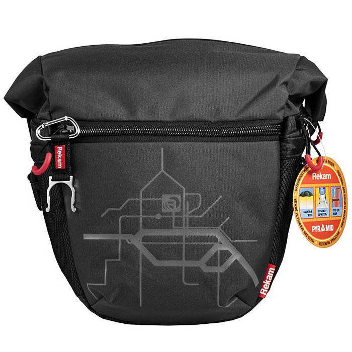 Rekam Pyramid RBX-59, Black сумка для фотокамеры1401101251Стильная, эргономичная сумка Rekam Pyramid RBX-59 предназначена для зеркальной фотокамеры. Прочный материал, надежные молнии и крепления, обеспечивают максимальную защиту фототехники. Дополнительные отсеки и карманы позволяют разместить выносную фотовспышку и пару аксессуаров. Благодаря отсеку для личных вещей, который при необходимости удобно складывается и не занимает места, сумка отлично подходит для отдыха и путешествий.